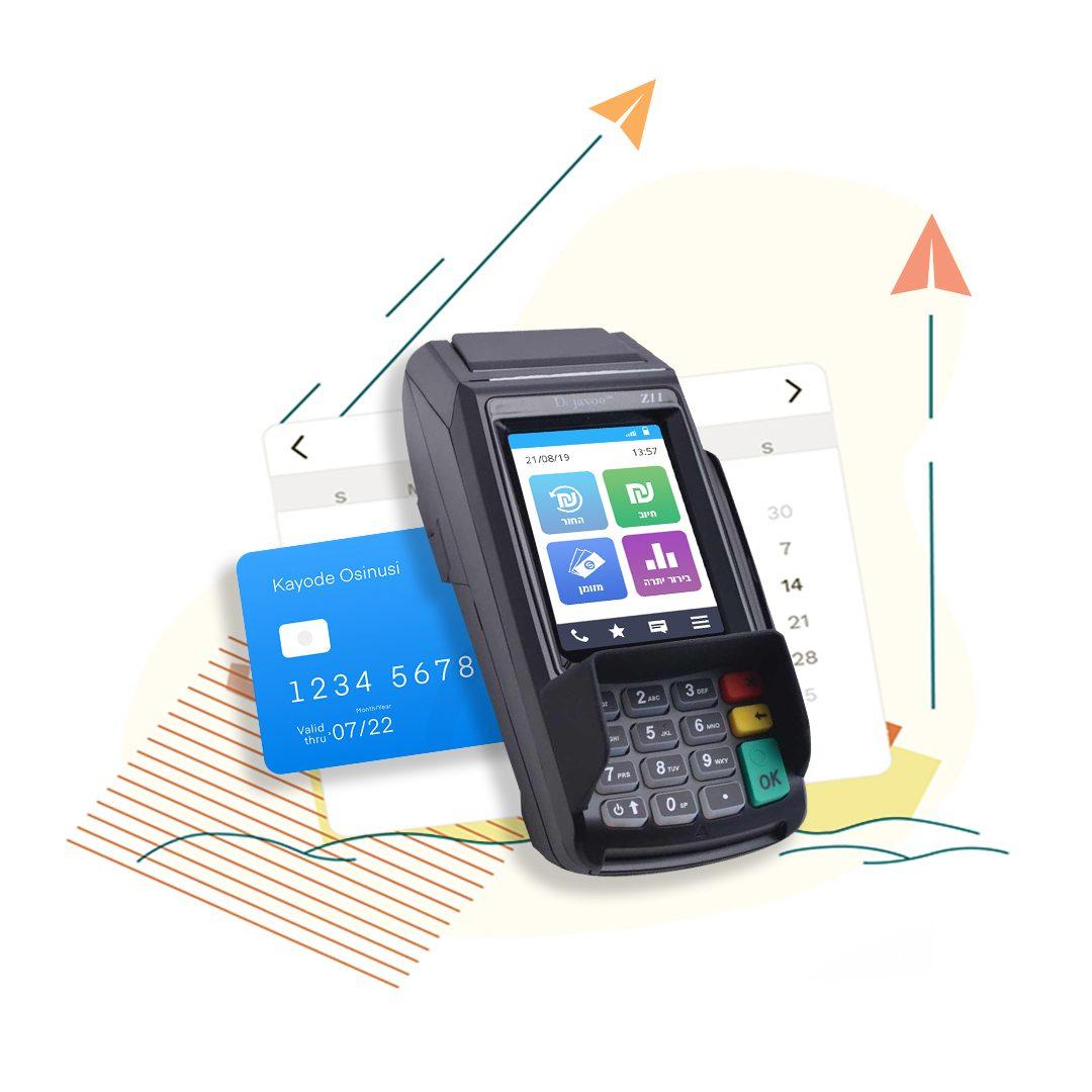 Z11 - מסופון סליקת אשראי נייח עם מדפסת ומסך מגע